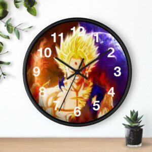 Dragon Ball Z Super Saiyan Goku Fanart Badass Wall Clock