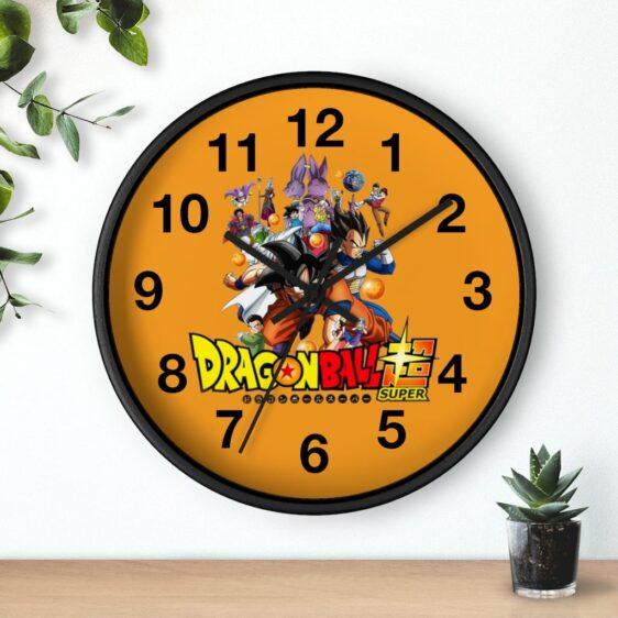 Dragon Ball Super Main Characters Poster Cool Wall Clock