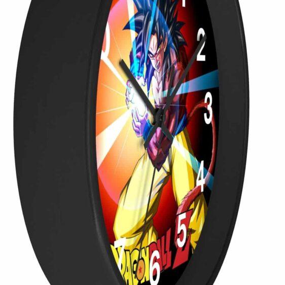 Dragon Ball Z Mad Goku SSJ4 Charge Attack Dope Wall Clock