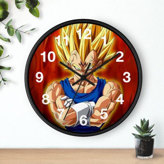 Dragon Ball Badass Majin Vegeta Smirk Dope Wall Clock
