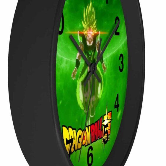 Dragon Ball Super Saiyan Broly Green Galaxy Awesome Wall Clock