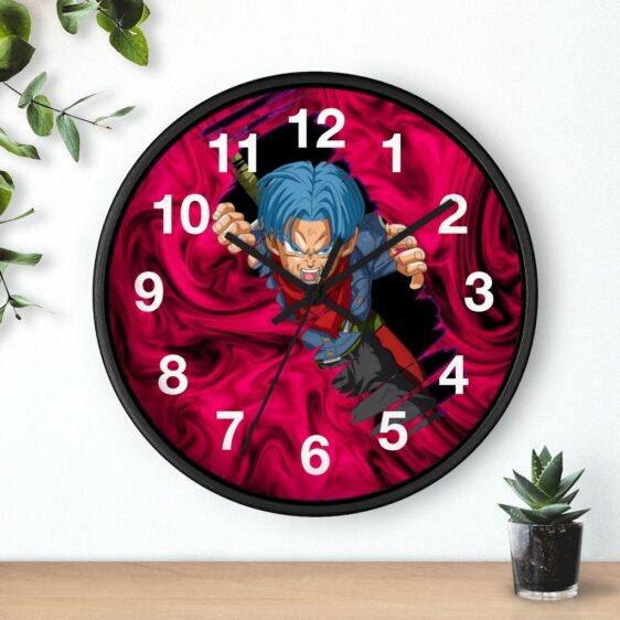 Dragon Ball Z Future Trunks Tearing Up Warp Dope Wall Clock