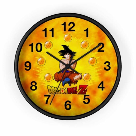 Dragon Ball Z Son Goku Ripped Clothes Fire Art Cool Wall Clock