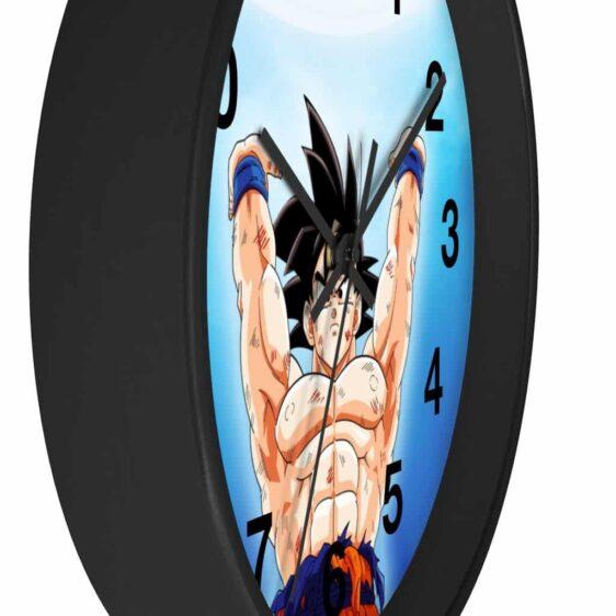 Dragon Ball Z Son Goku Spirit Bomb Print Awesome Wall Clock