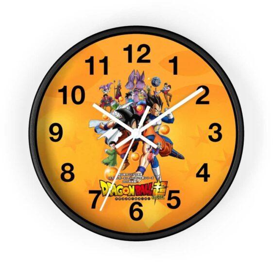 Dragon Ball Super Main Characters Anime Opening Wall Clock