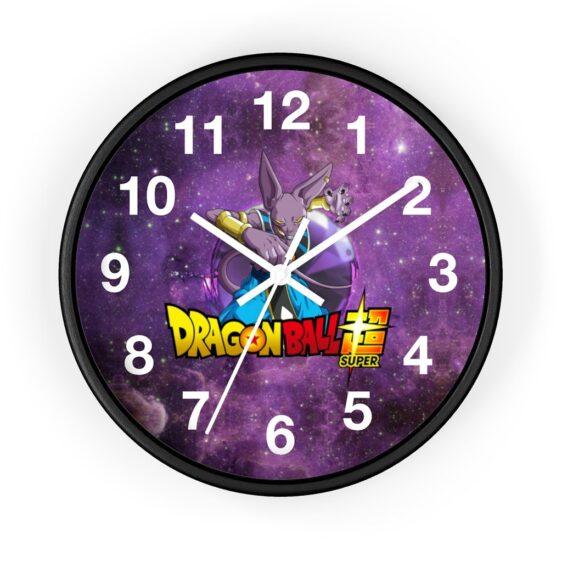 Dragon Ball Super Lord Beerus Galaxy Print Awesome Wall Clock