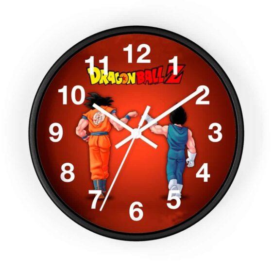 Dragon Ball Z Son Goku & Vegeta Fist Bump Classic Wall Clock