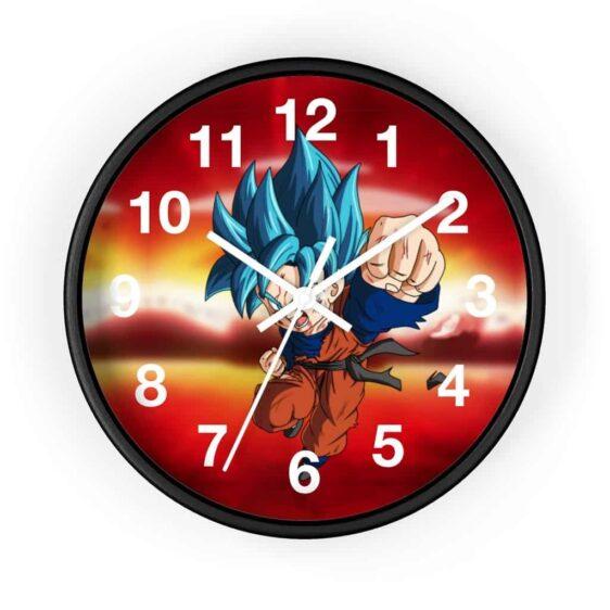 Dragon Ball Z Super Saiyan Blue Goten Punch Cool Wall Clock