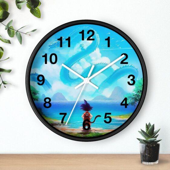 Dragon Ball Z Kid Goku Watching Shenron Art Beautiful Wall Clock