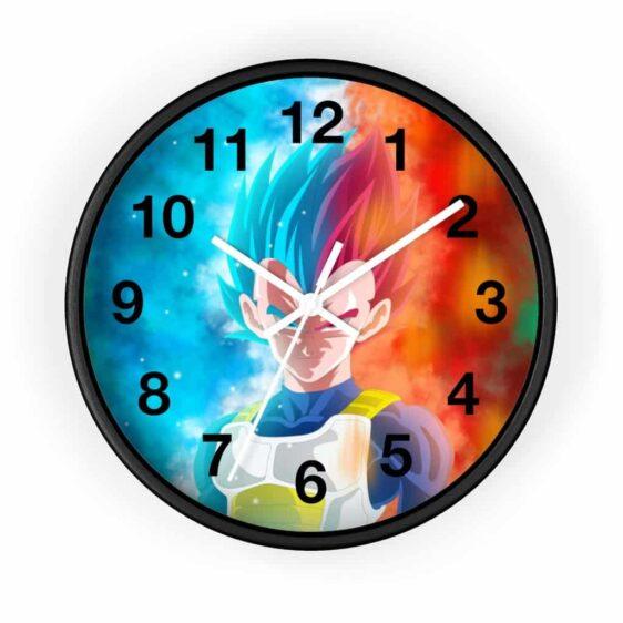Dragon Ball Vegeta Super Saiyan Blue & Red Awesome Wall Clock