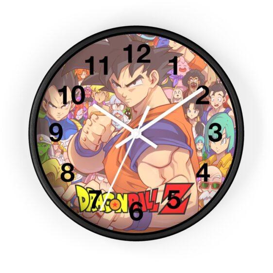 Dragon Ball Z Goku & Major Characters Art Awesome Wall Clock