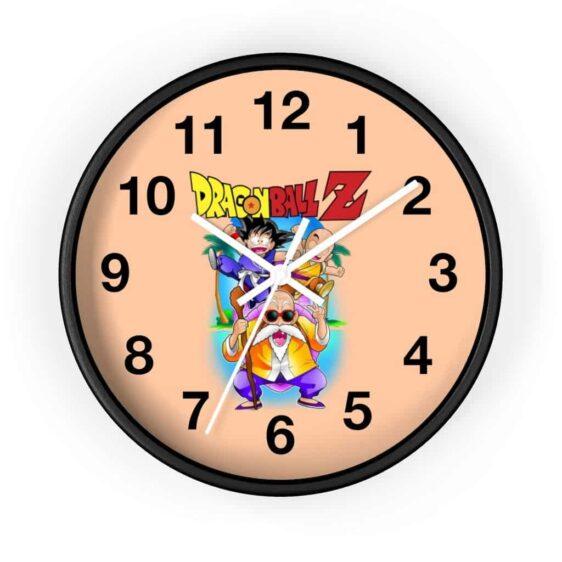 DBZ Kid Goku Krillin & Master Roshi In Kame Island Wall Clock