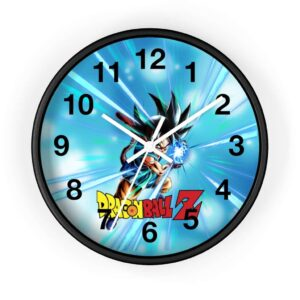 Dragon Ball Z Mad Kid Goku Flash Attack Cool Wall Clock