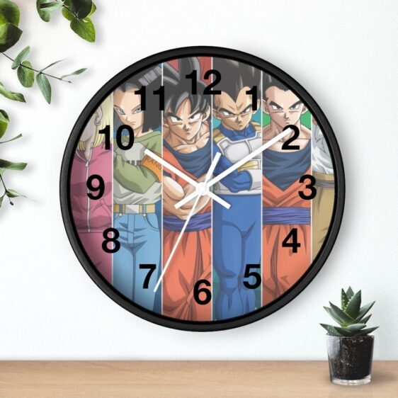 Dragon Ball Team Universe 7 Poster Art Classic Wall Clock