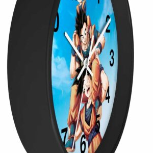 Dragon Ball Happy Goku Gohan Goten Wholesome Scene Wall Clock