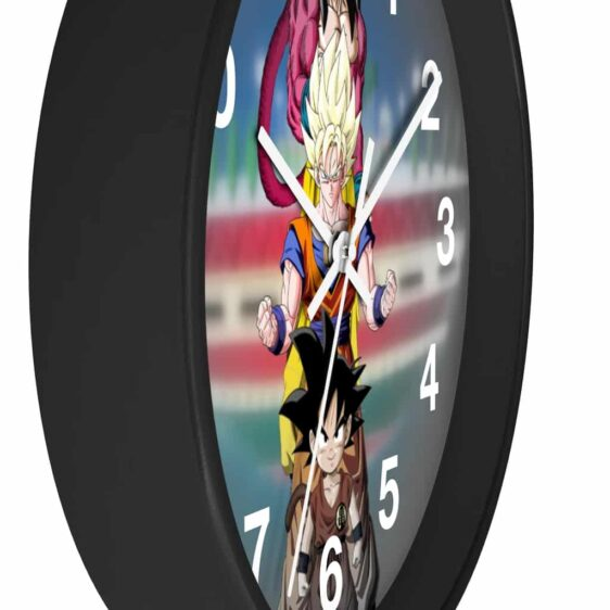 Dragon Ball Z Son Goku Different Forms Classic Wall Clock