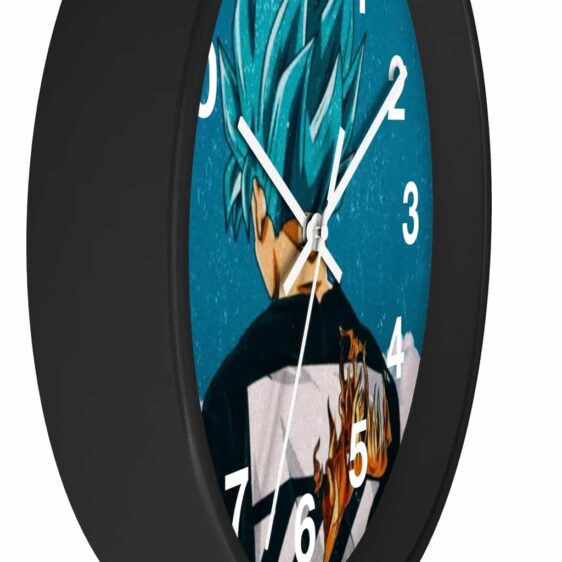 Dragon Ball Z Goku Blue Modern Aesthetic Style Cool Wall Clock