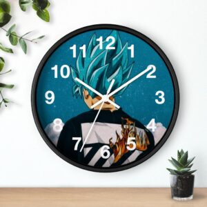 Dragon Ball Z Goku Blue Modern Aesthetic Style Cool Wall Clock