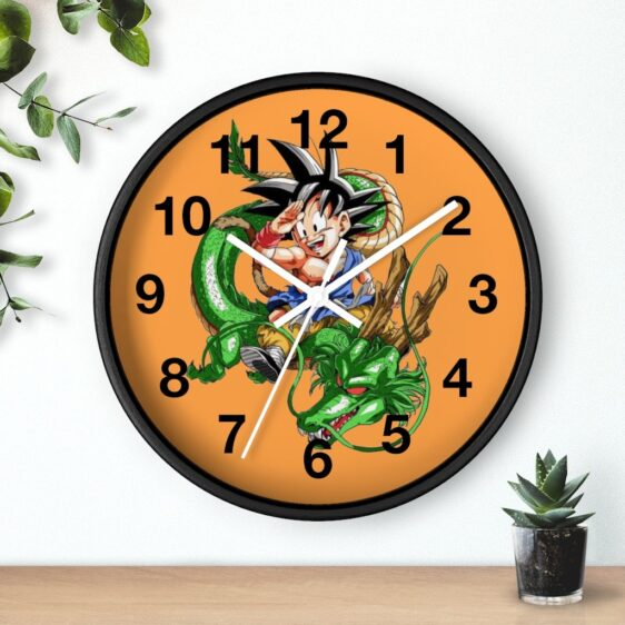Dragon Ball Kid Goku Riding Shenron Illustration Cool Wall Clock