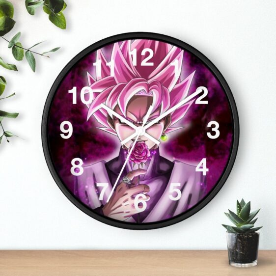Dragon Ball Goku Black Holding Rose Fanart Cool Wall Clock