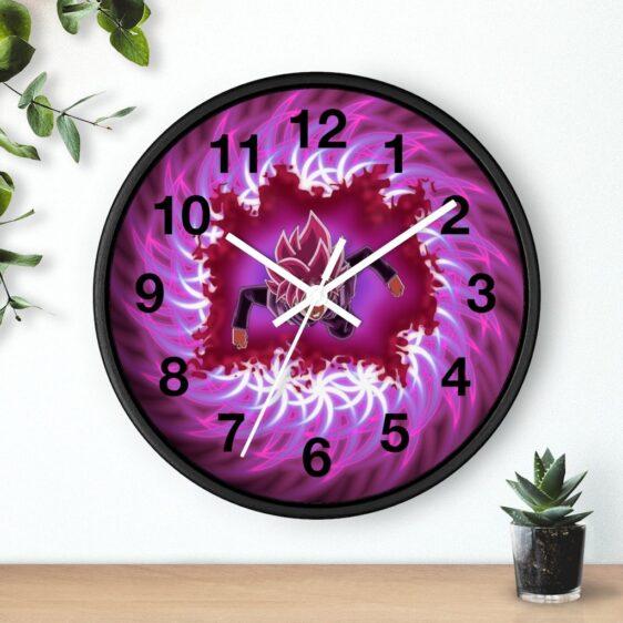 Dragon Ball Super Goku Black Saiyan Rose Flying Wall Clock