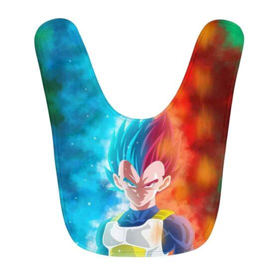 Dragon Ball Saiyan Prince Vegeta Blue & Red Cool Baby Bib