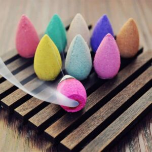 50pcs Natural Sandalwood Backflow Incense Cones For Incense Burners - Incense & Incense Burners - Chakra Galaxy