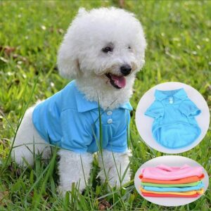 Comfy Plain Button Collared Spring Small Dog Shirt - Woof Apparel