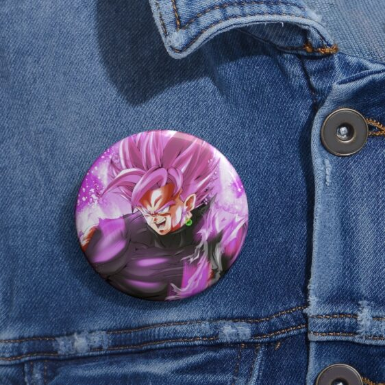 Dragon Ball Super Mad Goku Black Saiyan Rose Pin Button Badge