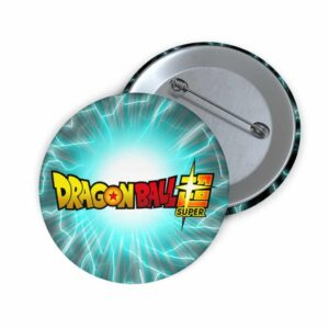 Dragon Ball Super Logo Energy Ball Background Cool Pin Badge