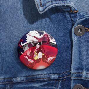 Dragon Ball Super Badass Android 21 Dark Bomb Pin Button