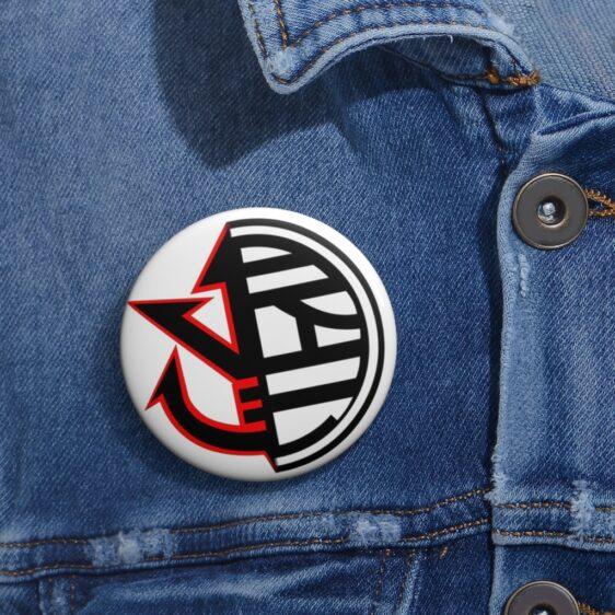 Dragon Ball Z Vegeta Saiyan Crest & King Kai Symbol Pin Button