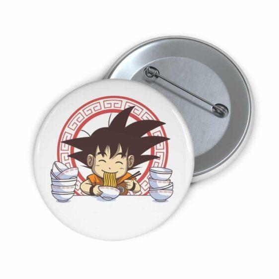 Dragon Ball Z Kid Goku Eating Ramen Cute Pin Button Badge