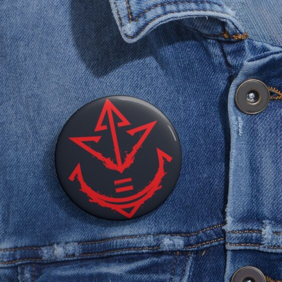 Dragon Ball Z Vegeta Royal Saiyan Crest Symbol Red Pin Button