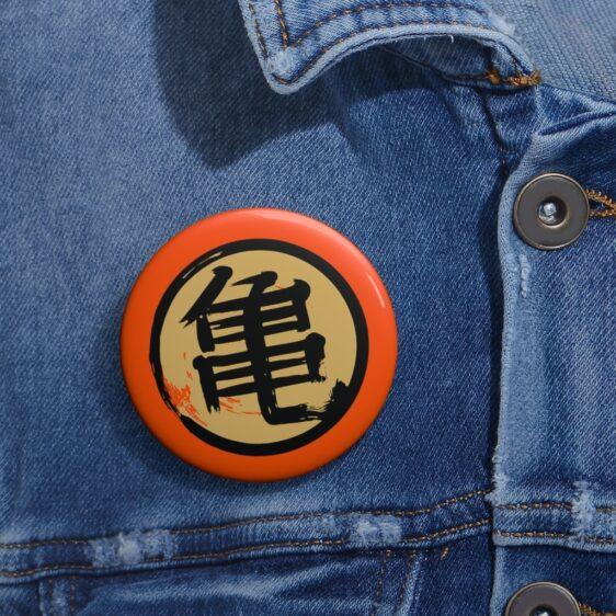 Dragon Ball Z Roshi Kanji Symbol Painting Orange Pin Badge