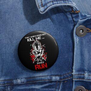 Dragon Ball Z Majin Vegeta Graphic Quote Dope Pin Button