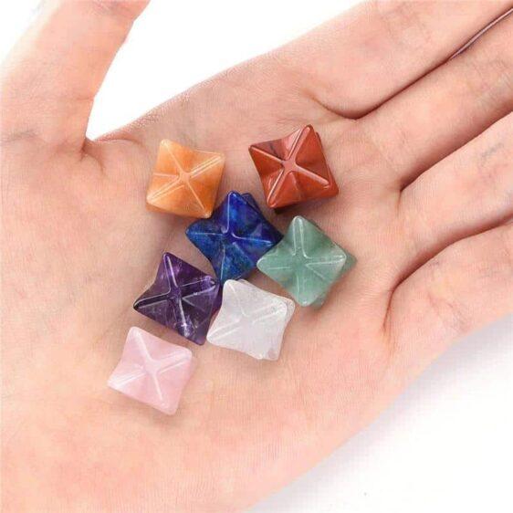 7 Chakra Star of David Chakra Balancing 12mm Reiki Healing Crystals