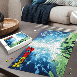 Cell Saga Z Fighters Team Dragon Ball Z Landscape Puzzle