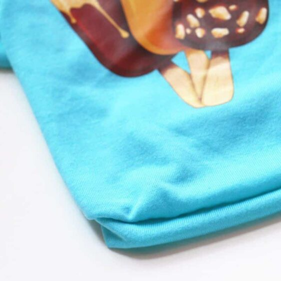 Delicious Popsicle Ice Cream Spring Blue Puppy Shirt - Woof Apparel