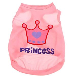 Princess Crown Summer Cotton Breathable Puppy Shirt - Woof Apparel