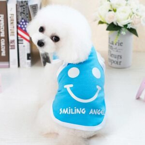 Lovely Smiling Angel Cotton Summer Small Dog Shirt - Woof Apparel
