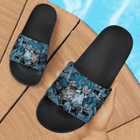 DBZ Chibi Vegeta Kakarot Future Trunks Vegito Zamasu Goku Black Cute Slide Slippers