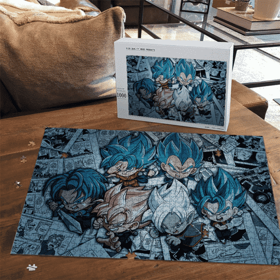 DBZ Chibi Zamasu Future Trunks Goku Black Vegeta Vegito Puzzle