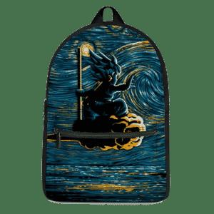 DBZ Kid Goku Flying Nimbus Starry Night Inspired Dope Backpack