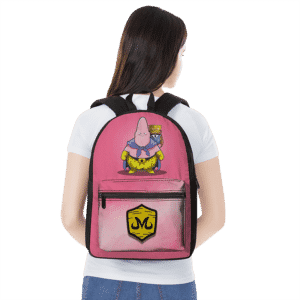 DBZ Patrick Spongebob Parody Fat Buu Babidi Cute Pink Backpack