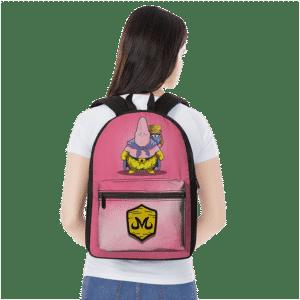 DBZ Patrick Spongebob Parody Fat Buu Babidi Cute Pink Backpack