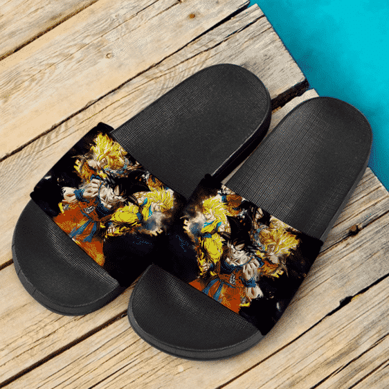 DBZ Son Goku Kakarot Super Saiyan Forms Fantastic Slide Sandals