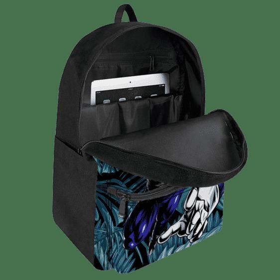 DBZ Vegeta Base Form Tropical Leaves Background Backpack