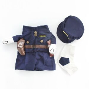 Adorable Little Police Officer Cop with Hat Costume for Dog - Woof Apparel