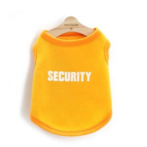 Cool Security Dog Spring Cotton Outfit Puppy Shirt - Woof Apparel